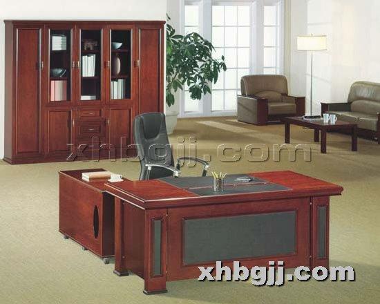 香河办公家具网提供生产胶板钢木班台厂家