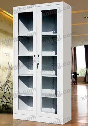 香河办公家具网提供生产玻璃通体对开文件柜厂家