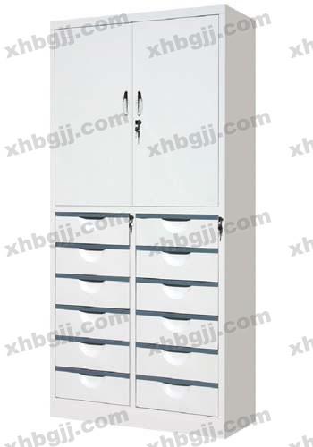香河办公家具网提供生产十二屉二门柜厂家