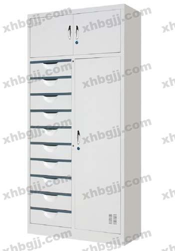 香河办公家具网提供生产十屉三门更衣柜厂家
